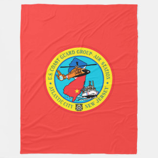 USCG Group Air Station New Jersey Fleece Blanket