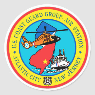 USCG Group Air Station New Jersey Round Sticker