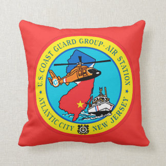 USCG Group Air Station New Jersey Throw Pillow