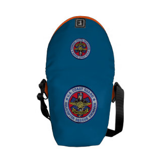 USCG Helicopter Rescue Swimmer Mini Bag Courier Bag