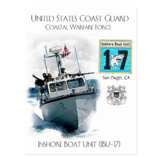 USCG Inshore Boat Unit IBU-17 Postcard