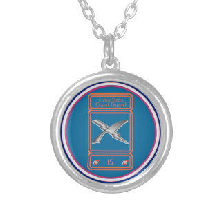 USCG Intelligence Specialist Silver Plated Necklace