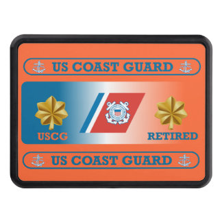 USCG LCdr Retired Trailer Hitch Cover