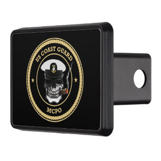 USCG Master Chief Petty Officer Skull Trailer Hitch Cover