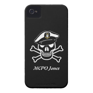 USCG MCPO Scull iPhone 4 Barely There Case