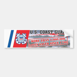 USCG One Million Lives Saved Bumper Sticker