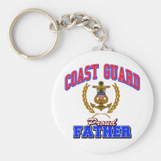 USCG Proud Father Keychain