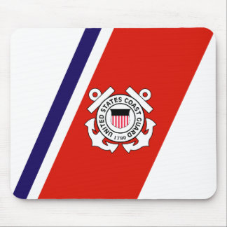 USCG Racing Stripe - Right Mouse Pad