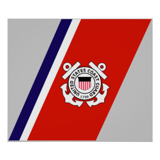 USCG Racing Stripe - Right Poster