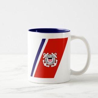 USCG Racing Stripe - Right Two-Tone Mug