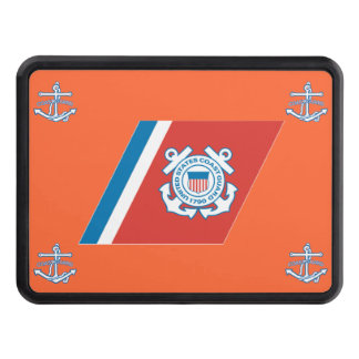 USCG Racing Stripe Trailer Hitch Cover
