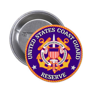 USCG Reserve Seal 2 Inch Round Button