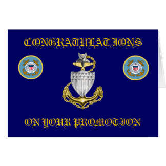 USCG Senior Chief Petty Officer Promotion Card