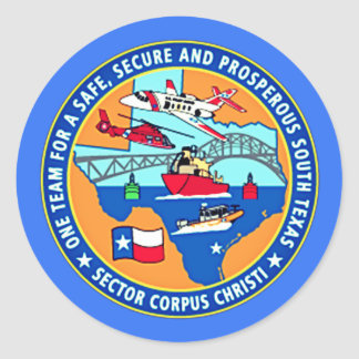 USCG Station Corpus Christi Texas Classic Round Sticker