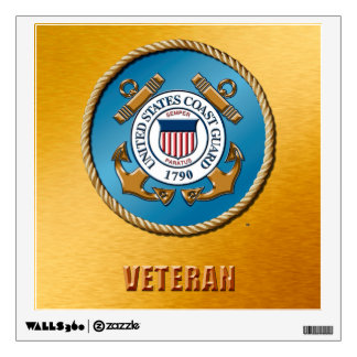 USCG Vet Wall Decal