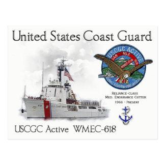 USCGC Active WMEC-618 Medium Endurance Cutter Postcard