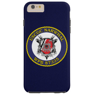 """USCGC Narwhal WPB-87335 """"Navy Blue"""" Tough iPhone 6 Plus Case"""