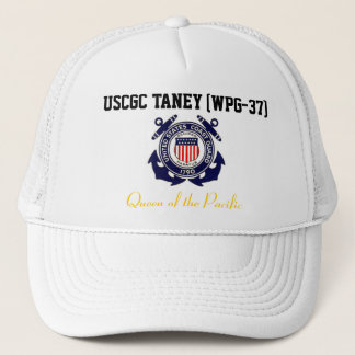 """USCGC TANEY (WPG-37) """"Queen of the Pacific"""" Trucker Hat"""