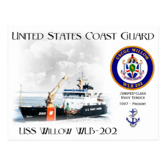 USCGC Willow WLB-202 Buoy Tender Postcard