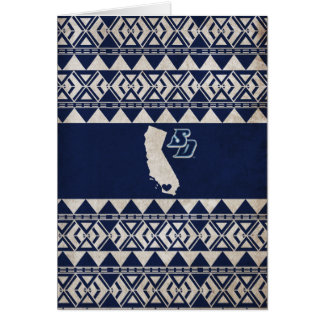 USD | California Tribal Pattern Card
