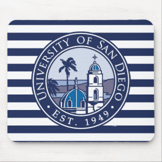 USD | Est. 1949 - Stripe Pattern Mouse Pad