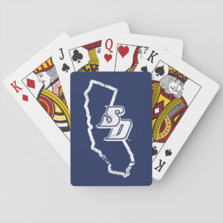 USD | Vintage California State Logo Playing Cards