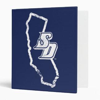 USD | Vintage California State Logo Vinyl Binder