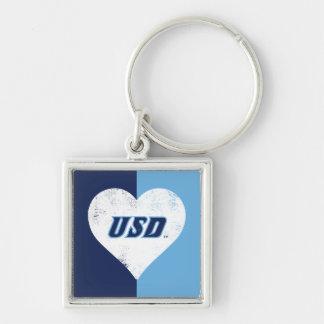 USD Vintage Heart Keychain