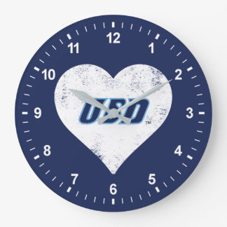 USD Vintage Heart Large Clock