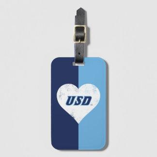 USD Vintage Heart Luggage Tag