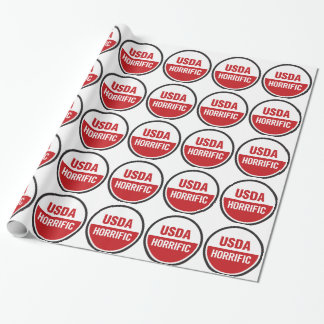 USDA-HORROR WRAPPING PAPER