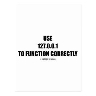 Use 127.0.0.1 To Function Correctly (IT Computer) Postcard