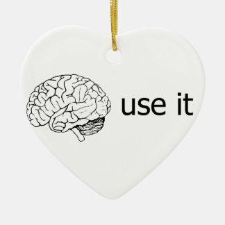 use it ceramic heart ornament