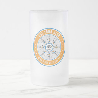 Use Your Head Frosted Glass Beer Mug