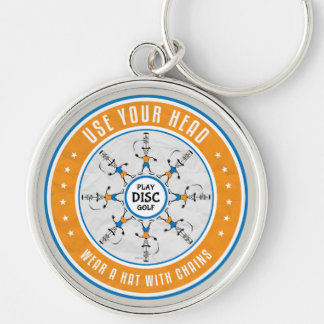 Use Your Head Silver-Colored Round Keychain