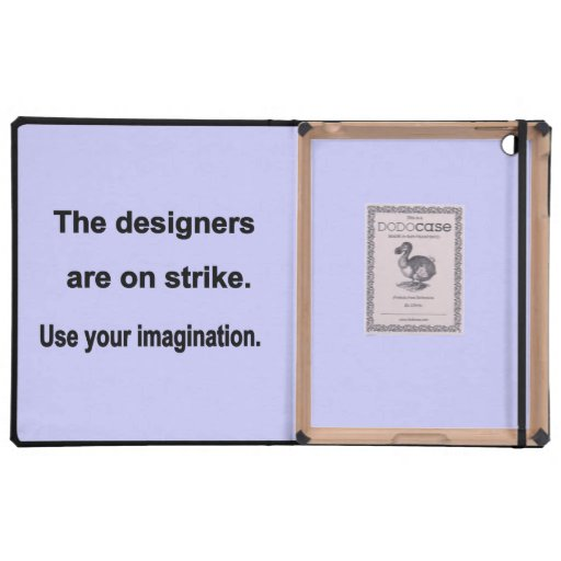 Use Your Imagination Design - Blue background iPad Cover