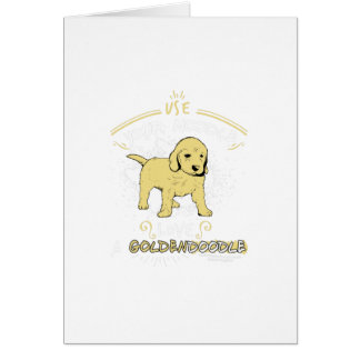 Use Your Noodle, Love a Goldendoodle Card