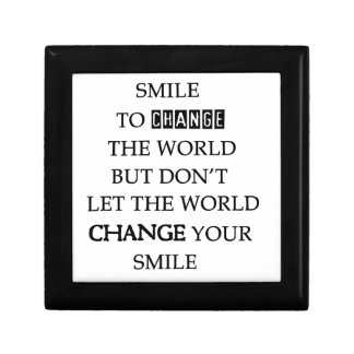 use your smile to change the world but don't let t gift box