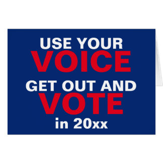 Use Your Voice and Vote Christmas New Year Card