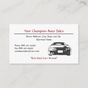 Used car dealership business cards business card printing zazzle ca used car dealer business card reheart Image collections