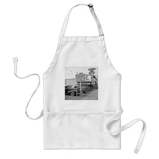 Used Car Lot Vintage Hollywood California Apron