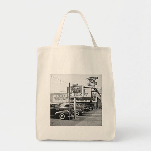 Used Car Lot Vintage Hollywood California Tote Bag