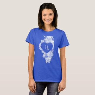 Used I Love Illinois State Women's Basic T-Shirt