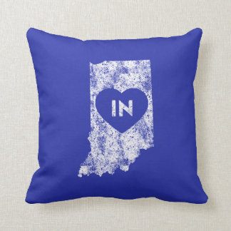 Used I Love Indiana State Throw Pillow