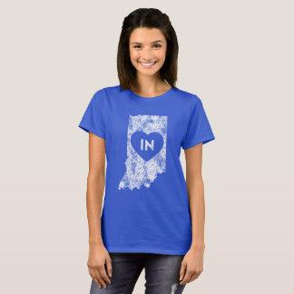 Used I Love Indiana State Women's Basic T-Shirt