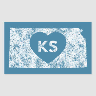 Used I Love Kansas State Stickers