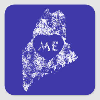 Used I Love Maine State Stickers