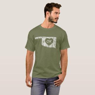Used I Love Oklahoma State Men's Dark T-Shirt