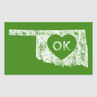 Used I Love Oklahoma State Stickers
