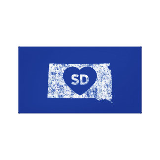 Used I Love South Dakota State  Wrapped Canvas